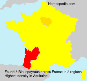 Surname Riouspeyrous in France