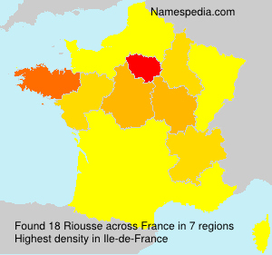 Surname Riousse in France