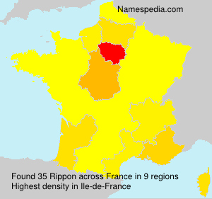 Surname Rippon in France