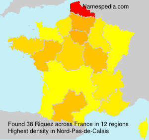 Surname Riquez in France
