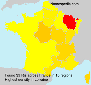 Surname Ris in France