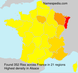 Surname Riss in France