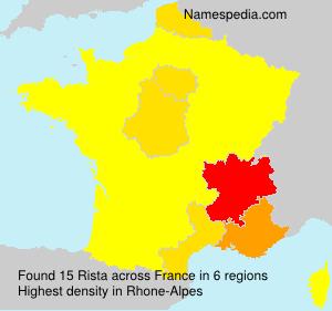 Surname Rista in France