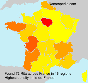 Surname Rita in France