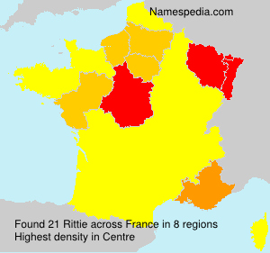 Surname Rittie in France
