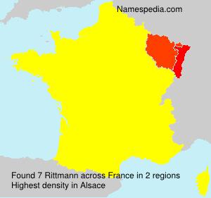 Surname Rittmann in France