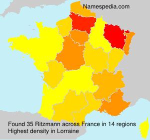 Surname Ritzmann in France