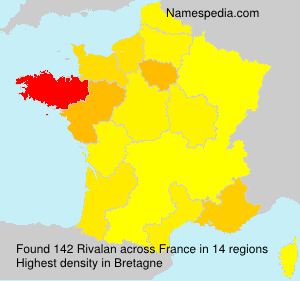 Surname Rivalan in France