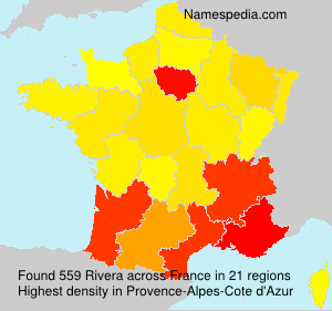 Familiennamen Rivera - France