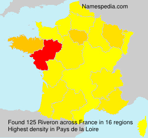 Familiennamen Riveron - France