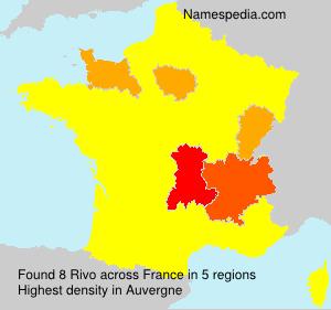 Surname Rivo in France
