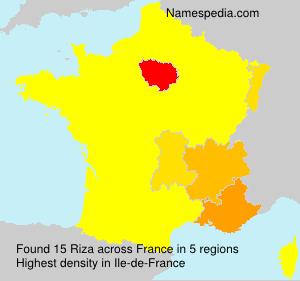 Surname Riza in France