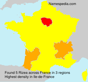 Surname Rizea in France