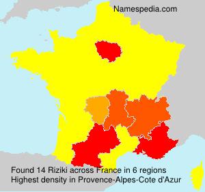 Surname Riziki in France