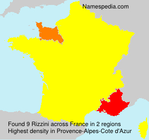 Surname Rizzini in France