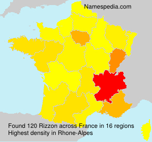Surname Rizzon in France