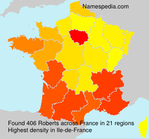 Surname Roberts in France
