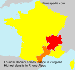 Surname Robiani in France