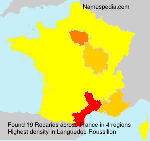 Surname Rocaries in France