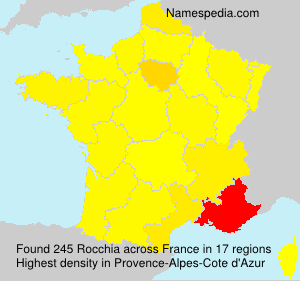 Surname Rocchia in France