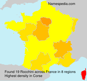 Surname Rocchini in France