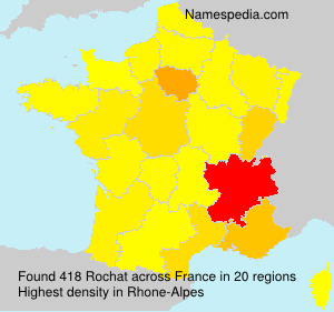 Surname Rochat in France