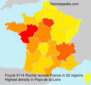 Surname Rocher in France