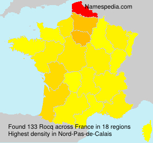 Surname Rocq in France