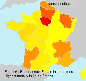 Surname Roder in France