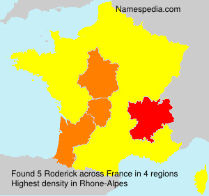Surname Roderick in France