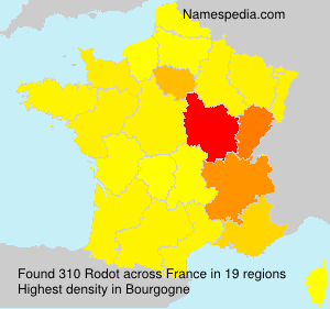 Surname Rodot in France