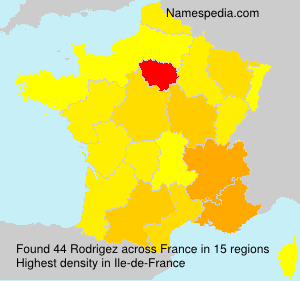 Surname Rodrigez in France