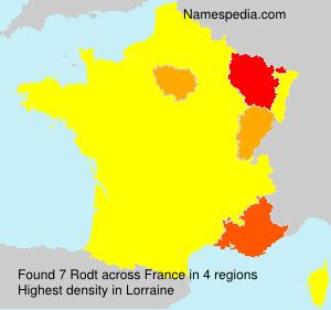 Surname Rodt in France