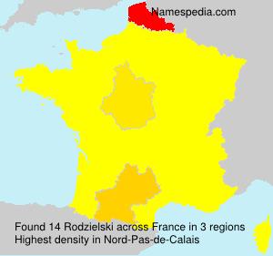 Familiennamen Rodzielski - France