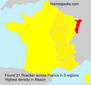 Surname Roecker in France