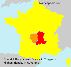 Surname Roffy in France