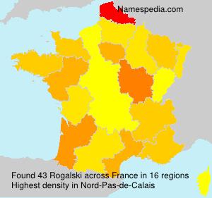 Surname Rogalski in France