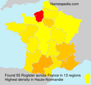 Surname Rogister in France