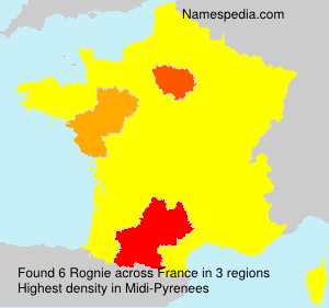 Surname Rognie in France