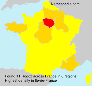 Surname Rogoz in France