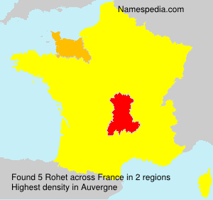 Surname Rohet in France
