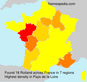 Surname Roiland in France
