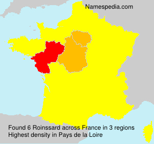Surname Roinssard in France