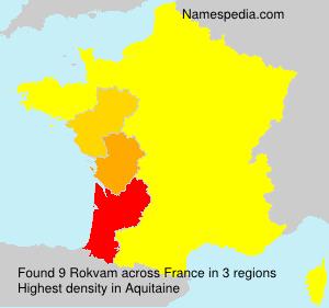 Familiennamen Rokvam - France