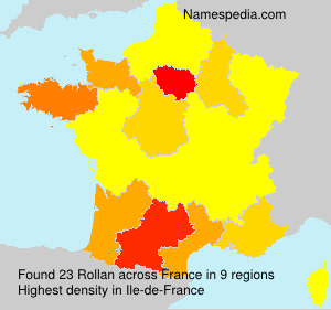 Surname Rollan in France