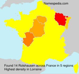 Surname Rolshausen in France