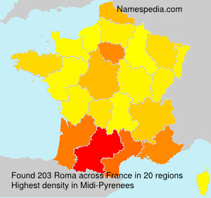 Surname Roma in France