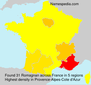 Surname Romagnan in France