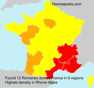 Surname Romanes in France