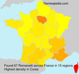 Surname Romanetti in France